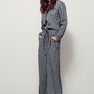 Free People Sensual Wrapped One Piece Jumpsuit